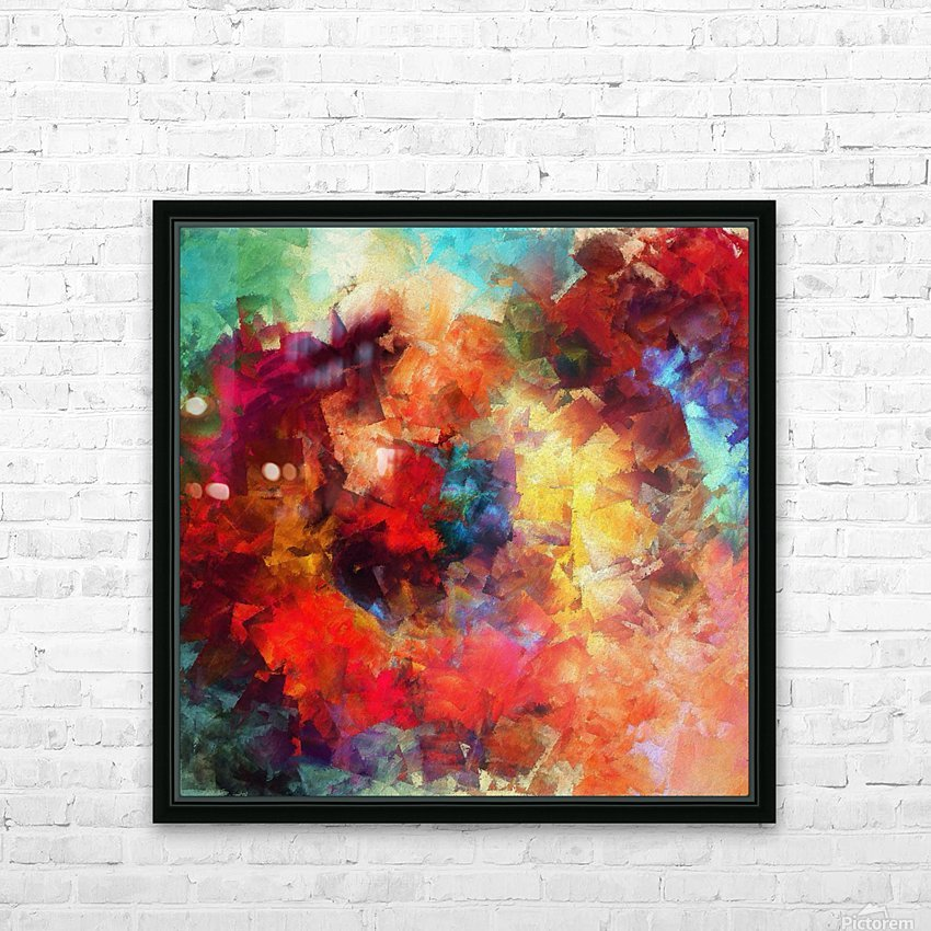 Whirling of Roses HD Sublimation Metal print with Decorating Float Frame (BOX)