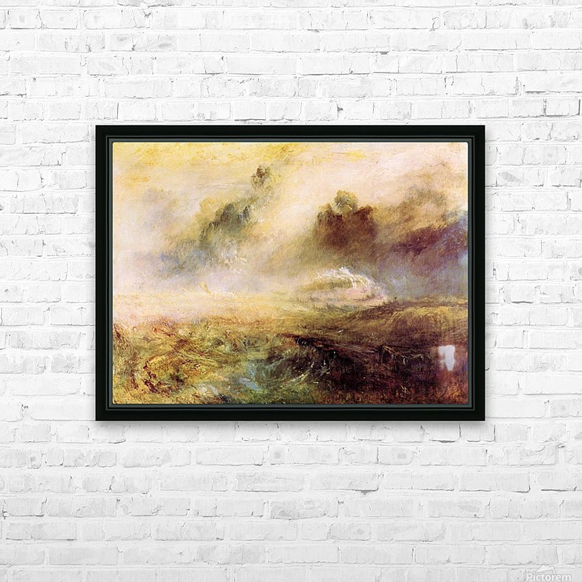 Rough Seas with wreckage by Joseph Mallord Turner HD Sublimation Metal print with Decorating Float Frame (BOX)