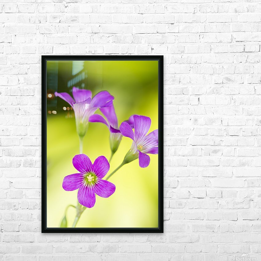 Little Pink Flowers HD Sublimation Metal print with Decorating Float Frame (BOX)