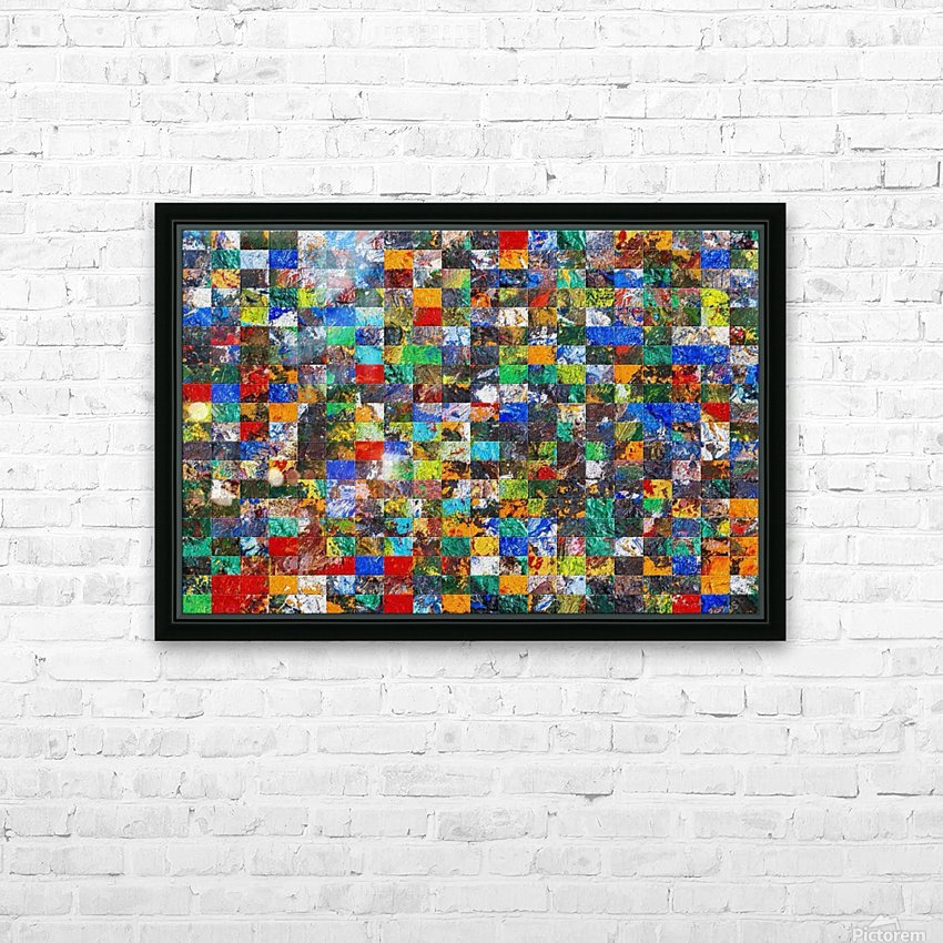 The Wall of Random Bricks HD Sublimation Metal print with Decorating Float Frame (BOX)