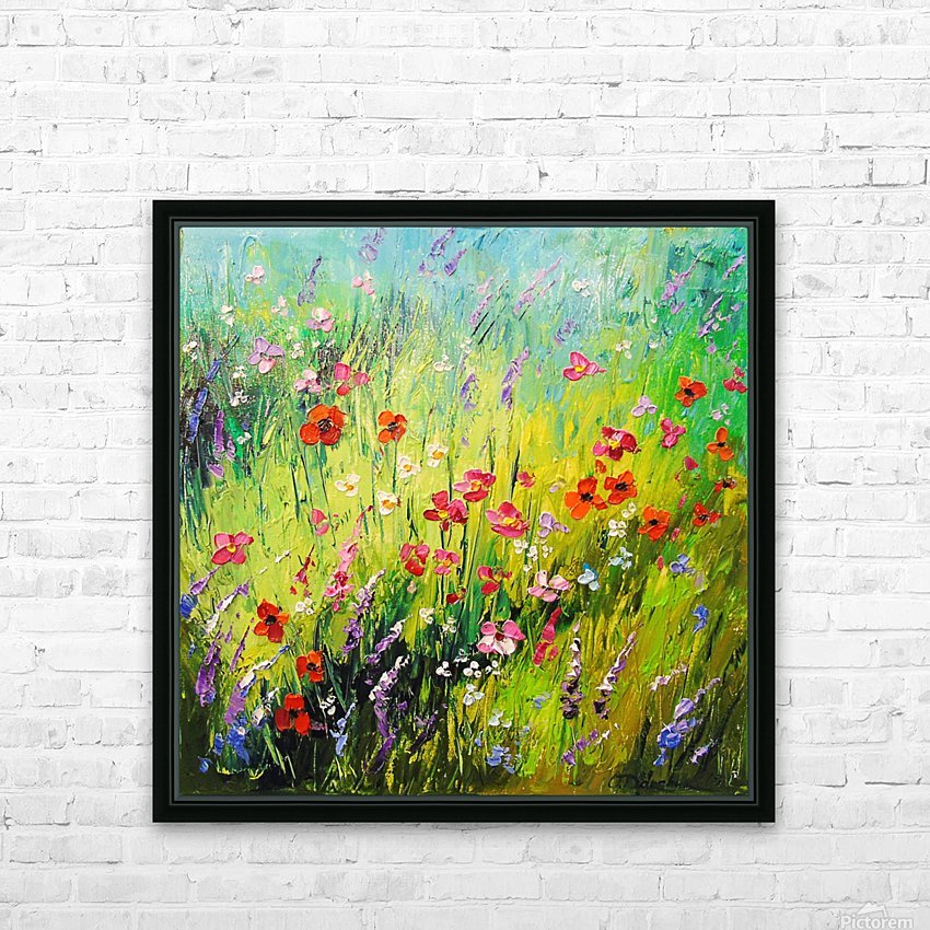 Meadow flowers HD Sublimation Metal print with Decorating Float Frame (BOX)