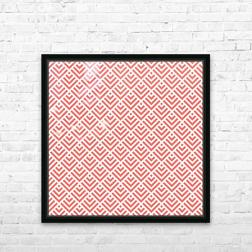 Living Coral Pattern I HD Sublimation Metal print with Decorating Float Frame (BOX)