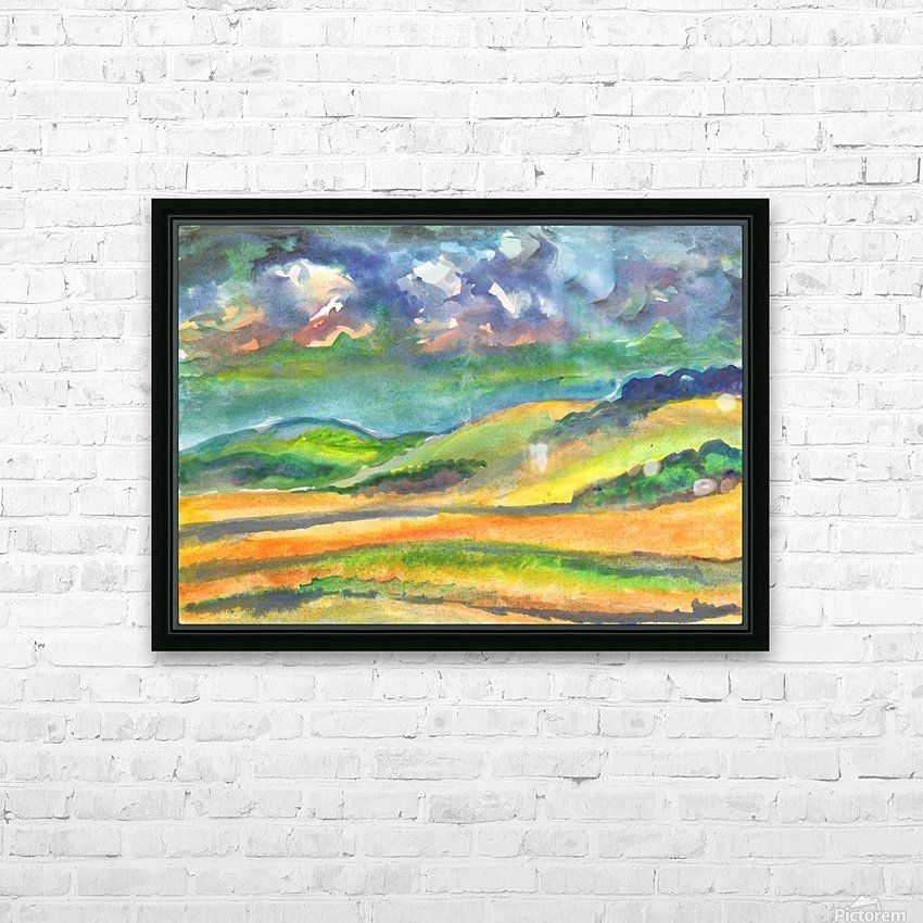 Landscape before a thunderstorm HD Sublimation Metal print with Decorating Float Frame (BOX)