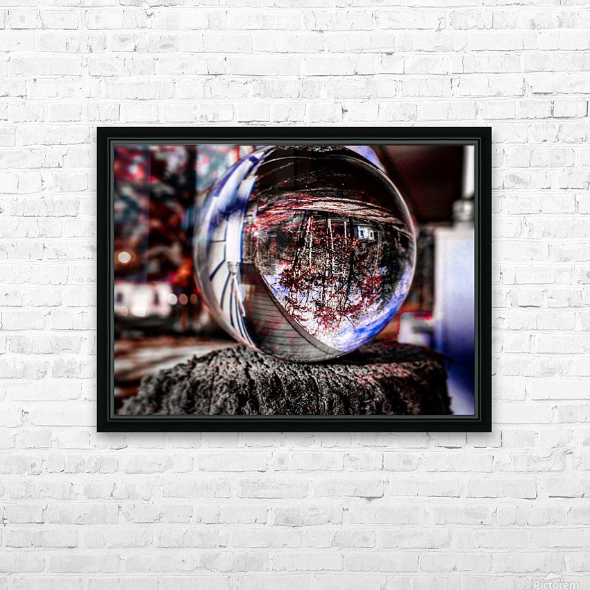 Through the ball HD Sublimation Metal print with Decorating Float Frame (BOX)
