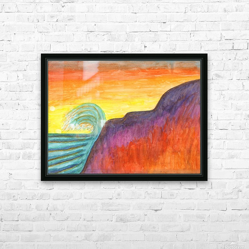 Sea surf at sunset HD Sublimation Metal print with Decorating Float Frame (BOX)