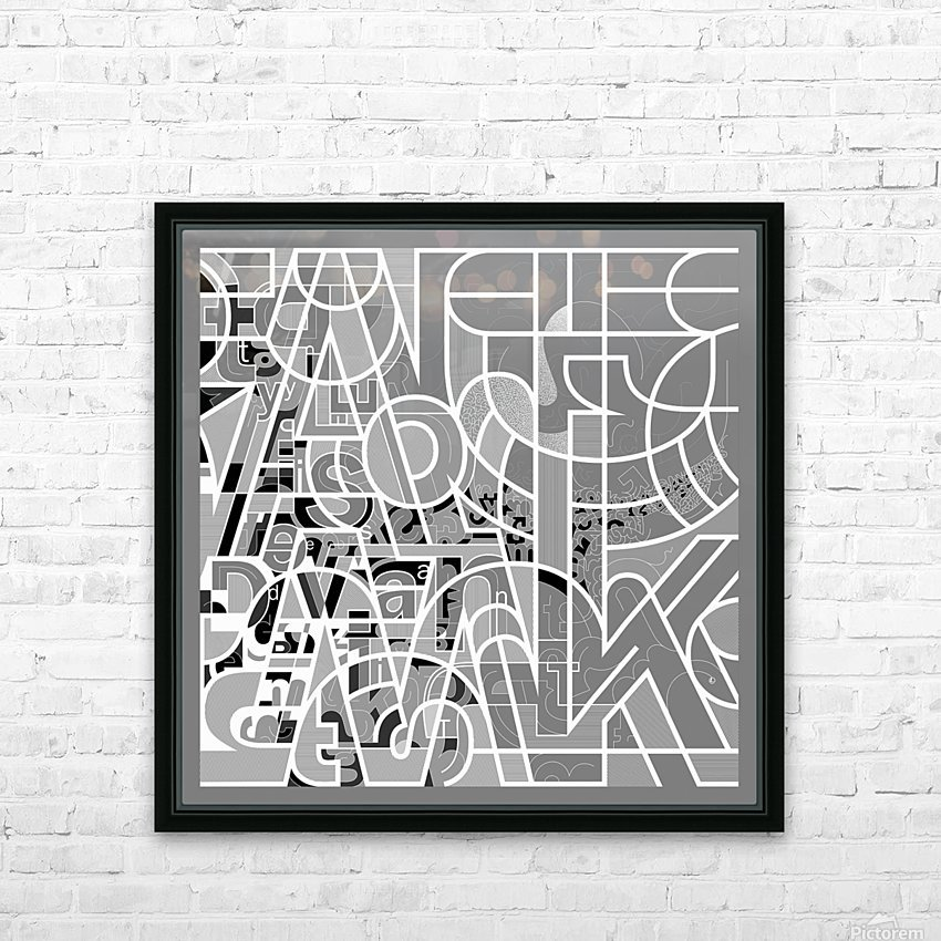 Type Is Deviant - Typography Art Print HD Sublimation Metal print with Decorating Float Frame (BOX)