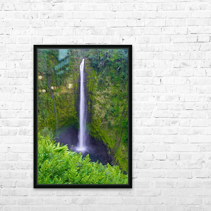 Tropical Falls - Hawaii Vertical HD Sublimation Metal print with Decorating Float Frame (BOX)