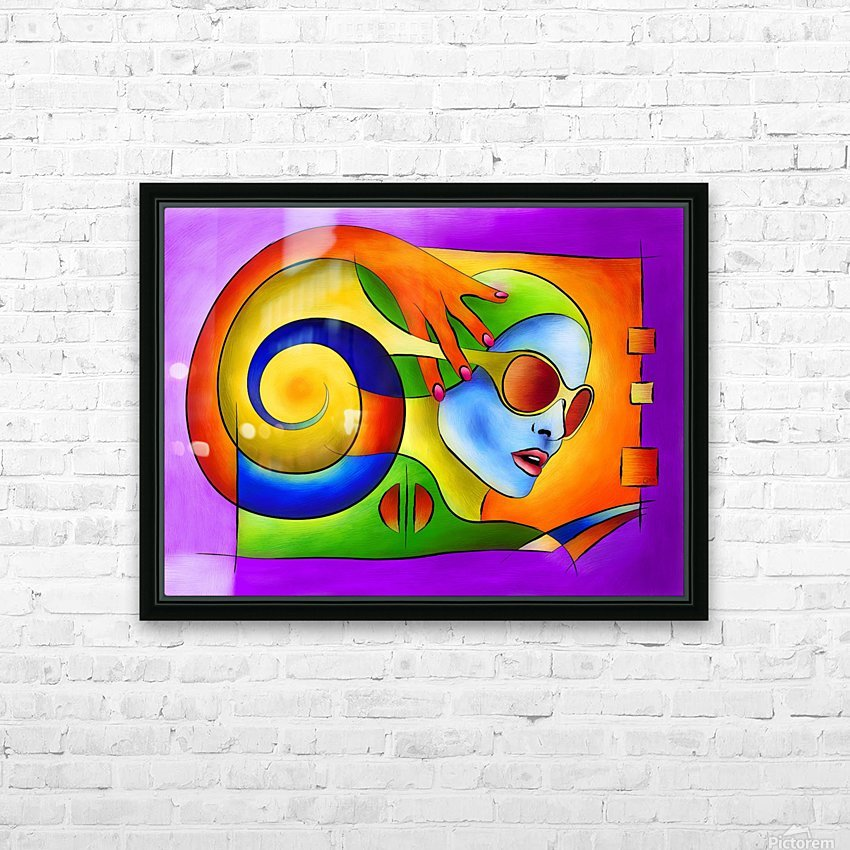 Fenimeussa - blue spiral beauty HD Sublimation Metal print with Decorating Float Frame (BOX)