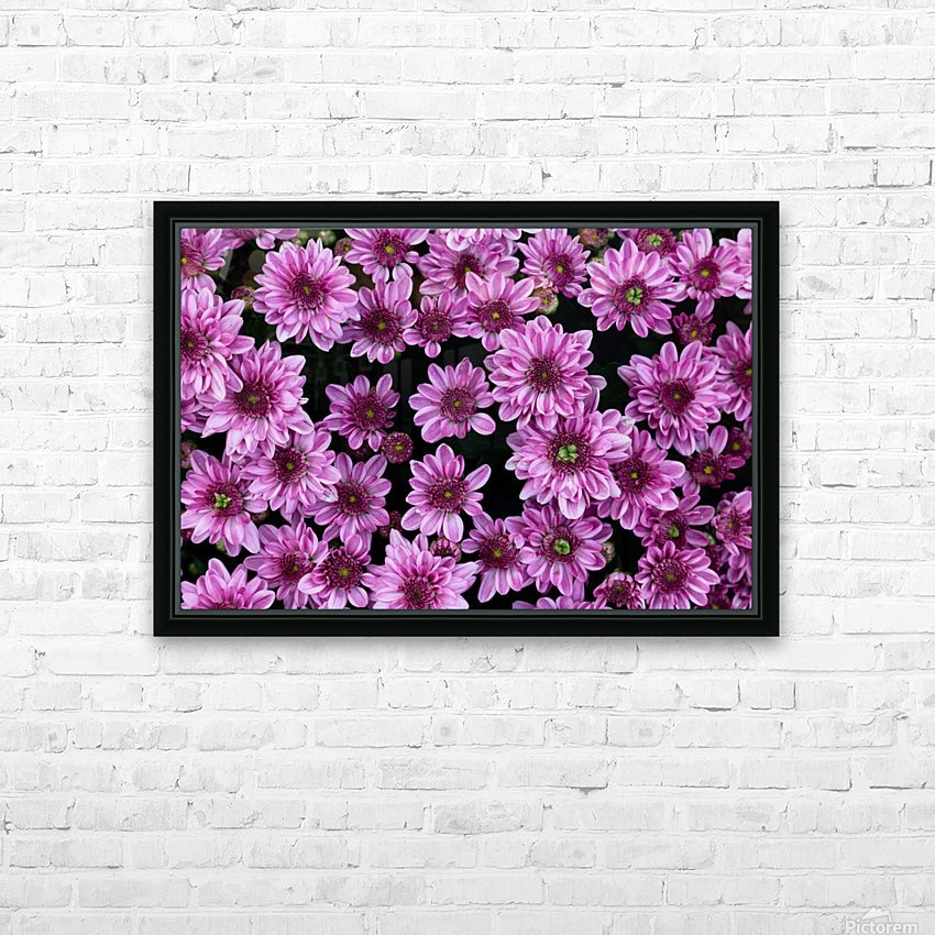 Purple flowre HD Sublimation Metal print with Decorating Float Frame (BOX)
