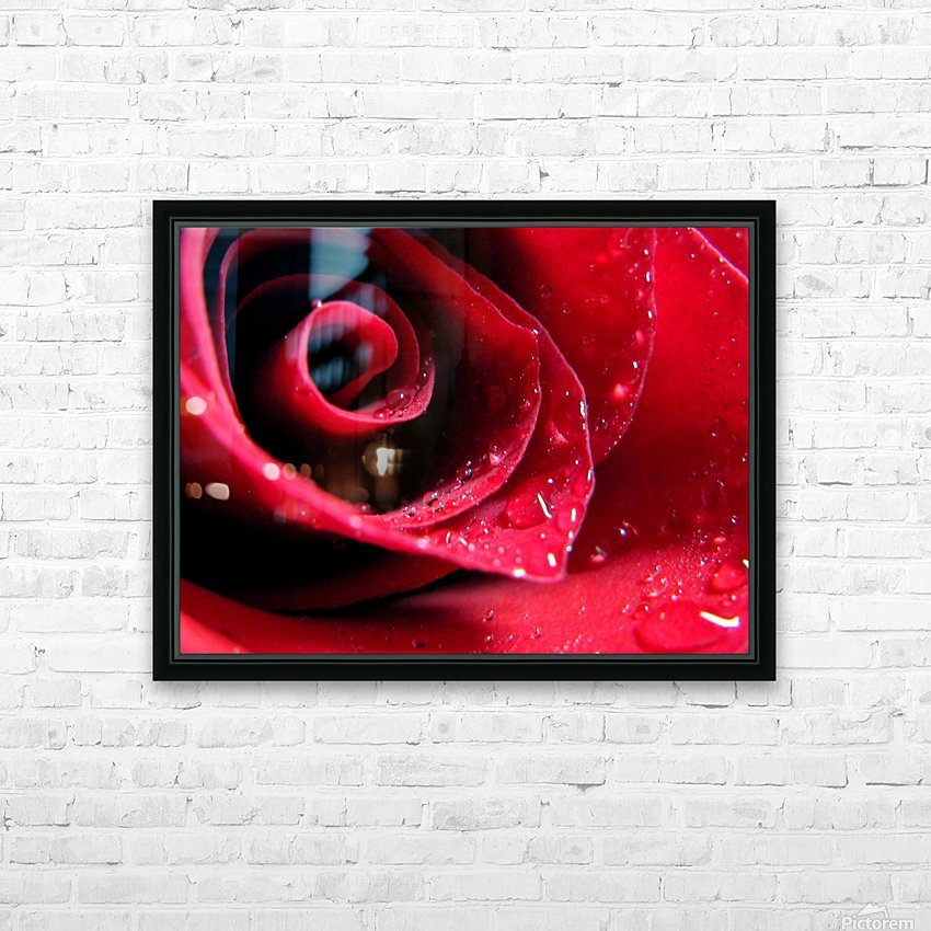 Pearly Petals HD Sublimation Metal print with Decorating Float Frame (BOX)