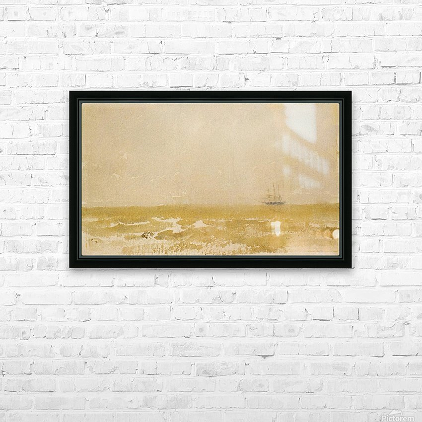Seascape with Schooner by Whistler HD Sublimation Metal print with Decorating Float Frame (BOX)