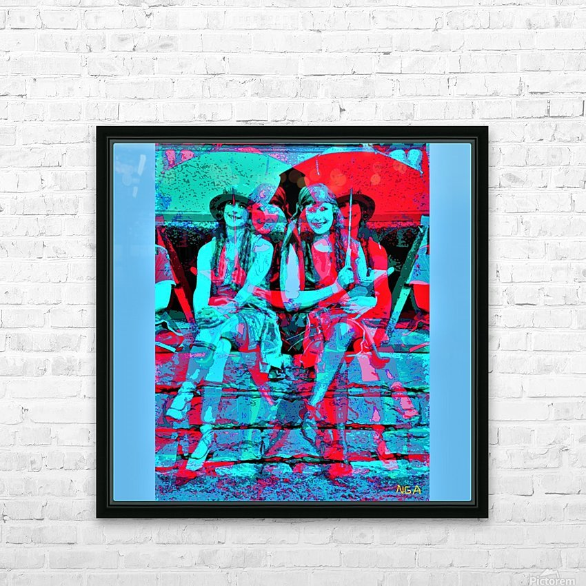 The Umbrella Girls by neil gairn adams  HD Sublimation Metal print with Decorating Float Frame (BOX)