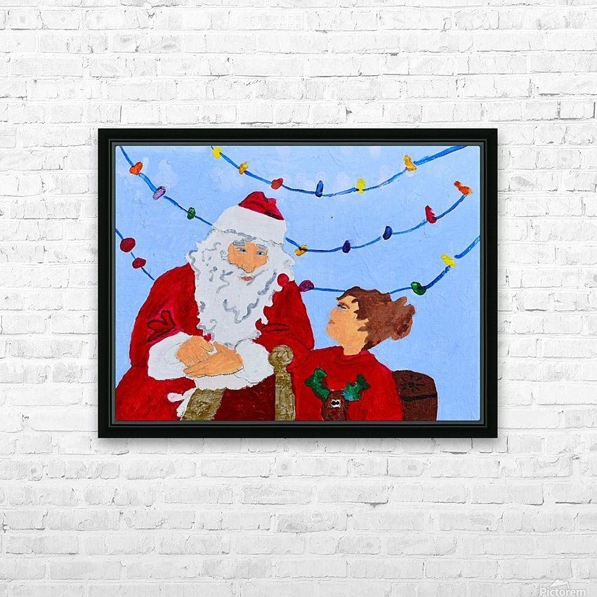 Christmas Eve. David K HD Sublimation Metal print with Decorating Float Frame (BOX)