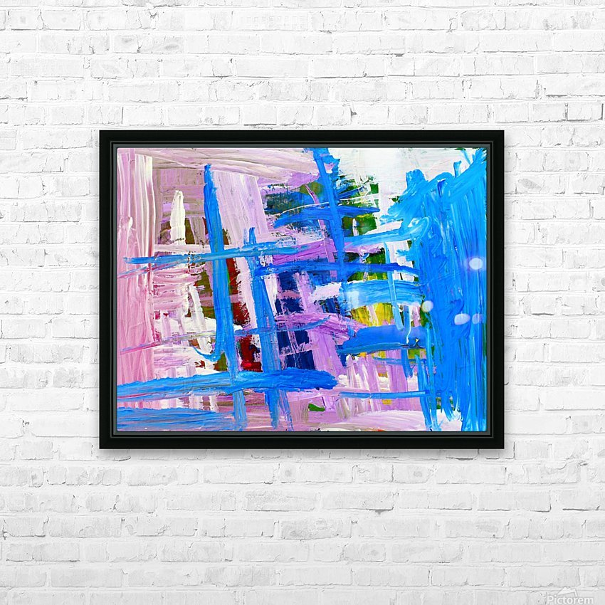 Blue Cascade. Katie J HD Sublimation Metal print with Decorating Float Frame (BOX)
