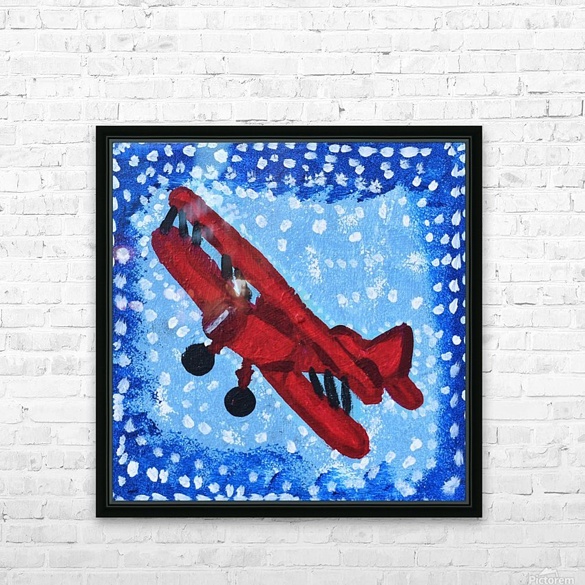 Airplane. David K HD Sublimation Metal print with Decorating Float Frame (BOX)