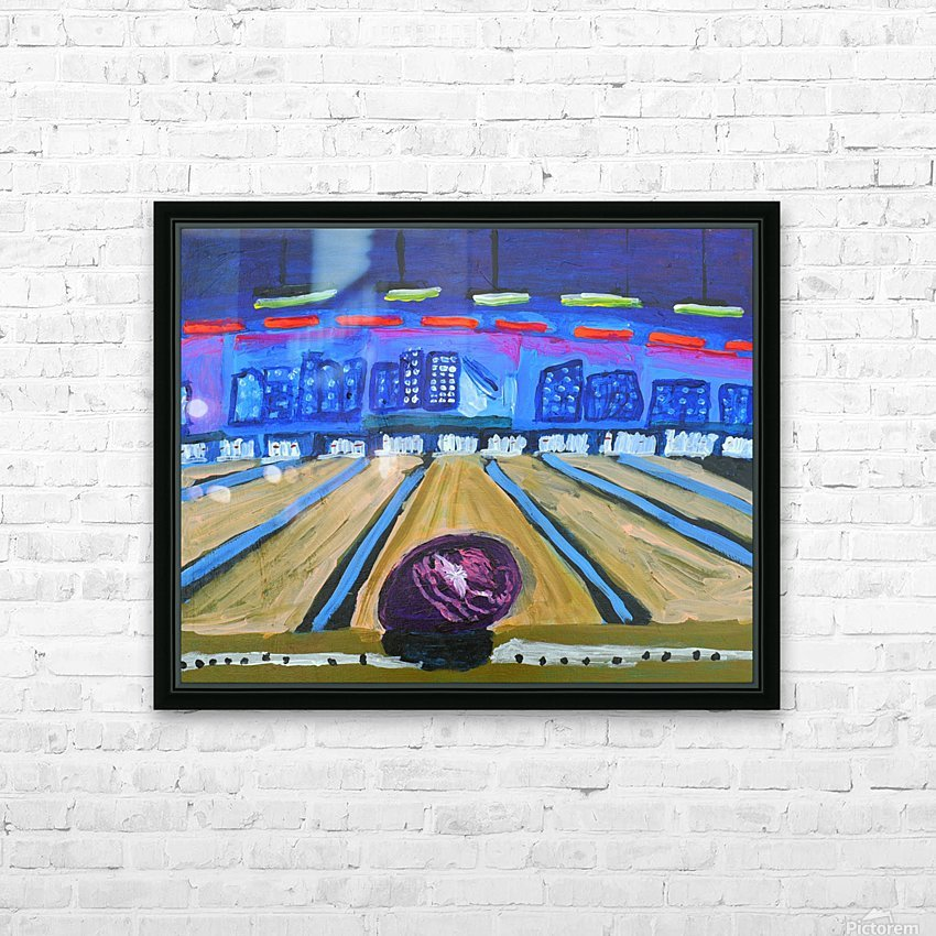 Bowling Alley. David K HD Sublimation Metal print with Decorating Float Frame (BOX)