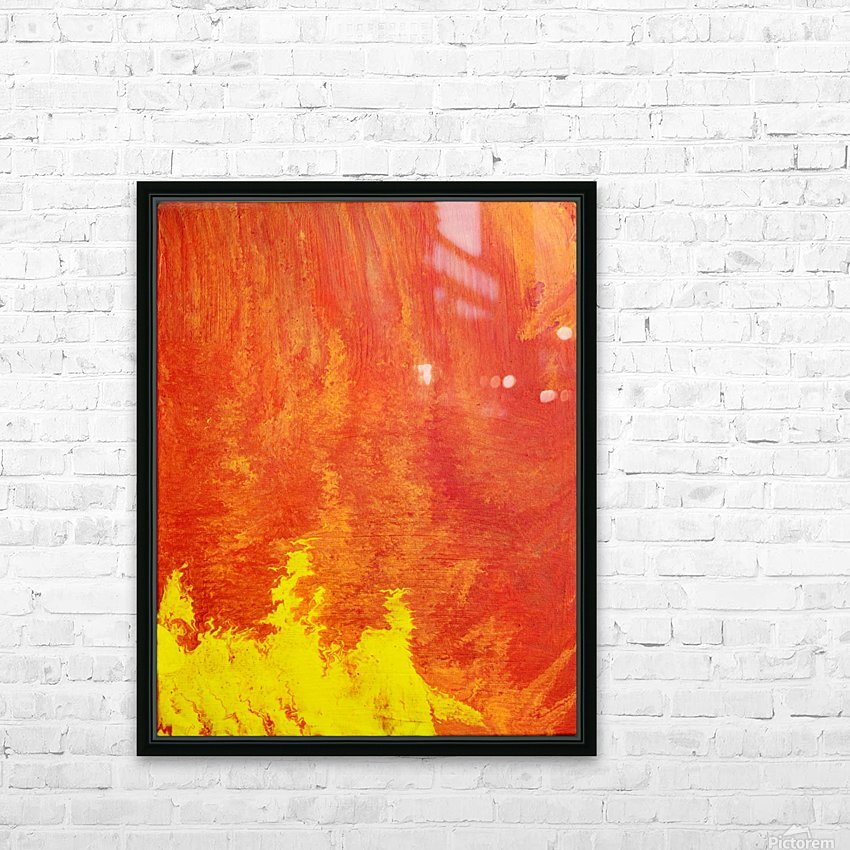 Fire in the Sky. Tala S HD Sublimation Metal print with Decorating Float Frame (BOX)