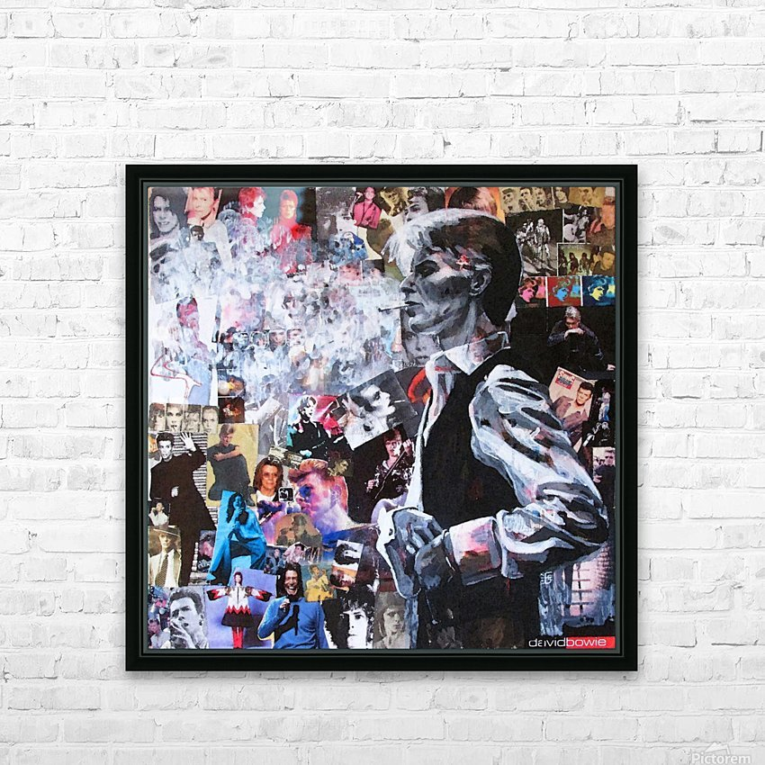 David Bowie HD Sublimation Metal print with Decorating Float Frame (BOX)