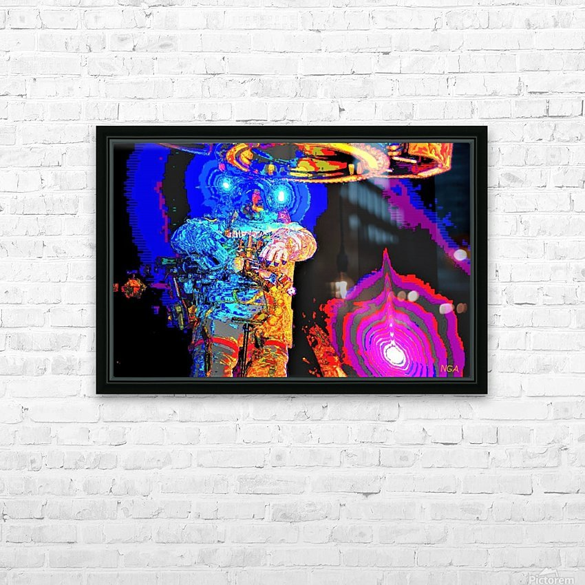 Exploring the Unknown by Neil Gairn Adams HD Sublimation Metal print with Decorating Float Frame (BOX)