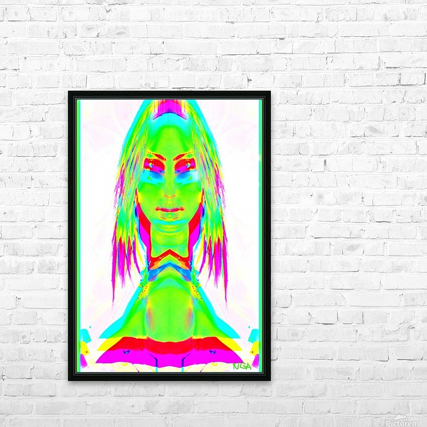 Lady in Green 2 -  by Neil Gairn Adams HD Sublimation Metal print with Decorating Float Frame (BOX)