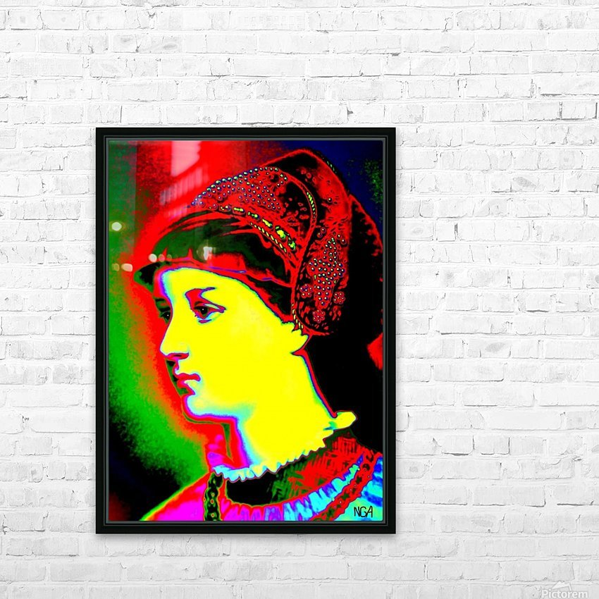 The Lady - by Neil Gairn Adams HD Sublimation Metal print with Decorating Float Frame (BOX)