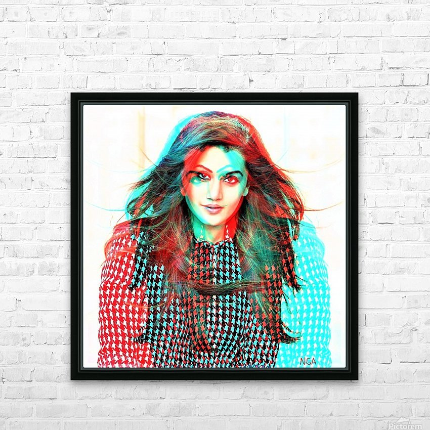 The Model -  by Neil Gairn Adams  HD Sublimation Metal print with Decorating Float Frame (BOX)