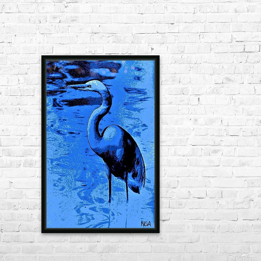 Bird in the Water -  by Neil Gairn Adams HD Sublimation Metal print with Decorating Float Frame (BOX)
