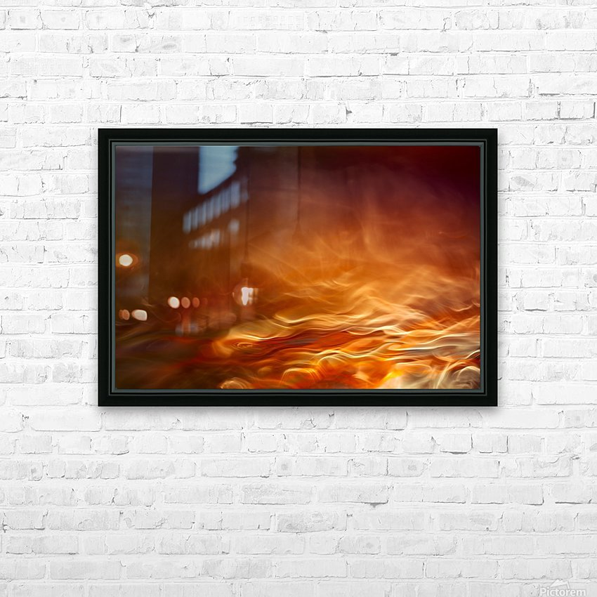Burning water HD Sublimation Metal print with Decorating Float Frame (BOX)