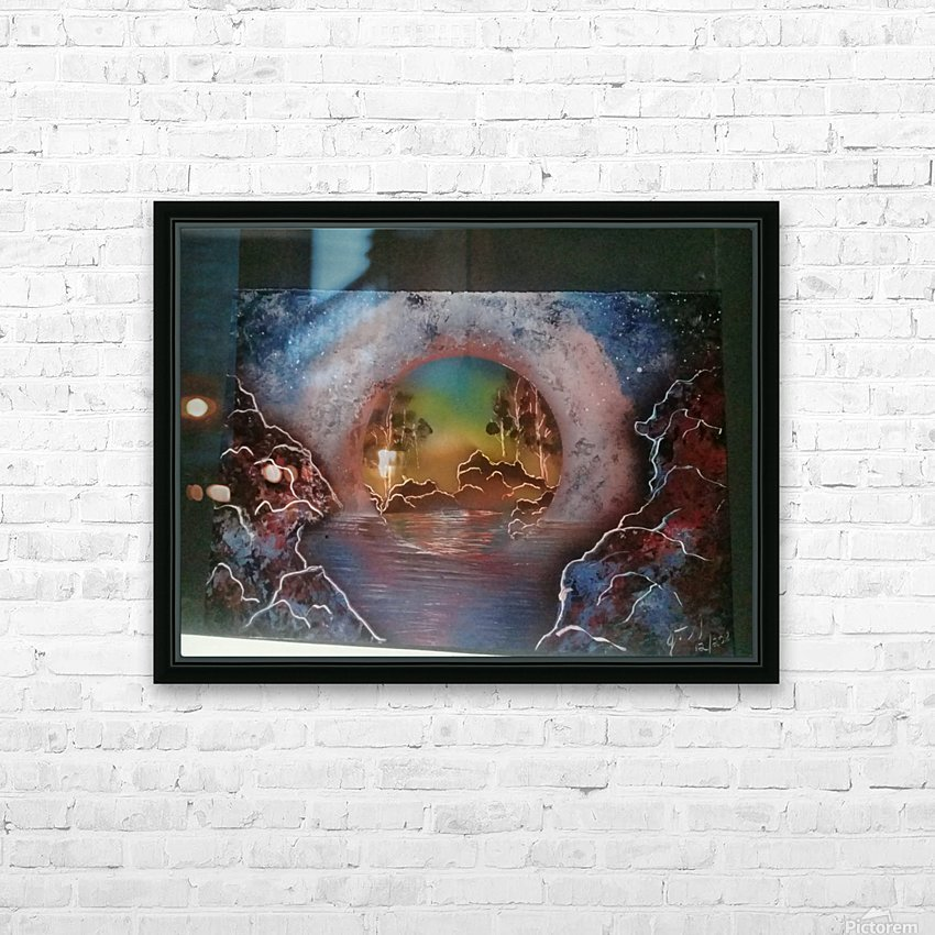 Fantasy World HD Sublimation Metal print with Decorating Float Frame (BOX)