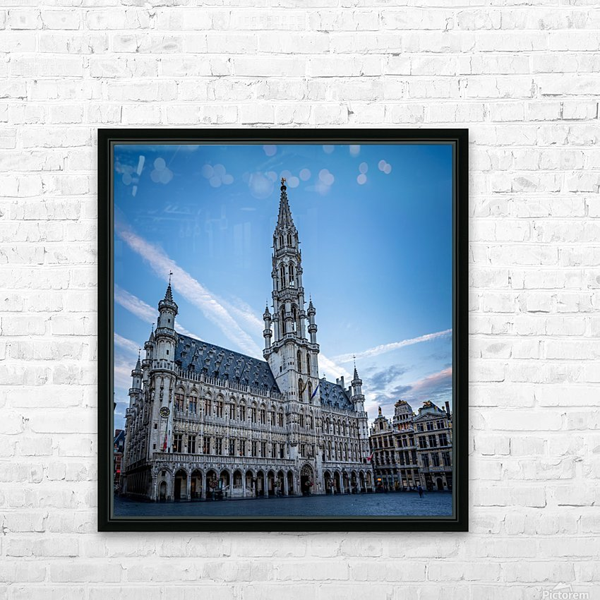 Town Hall in the Grand Place - Belgium HD Sublimation Metal print with Decorating Float Frame (BOX)