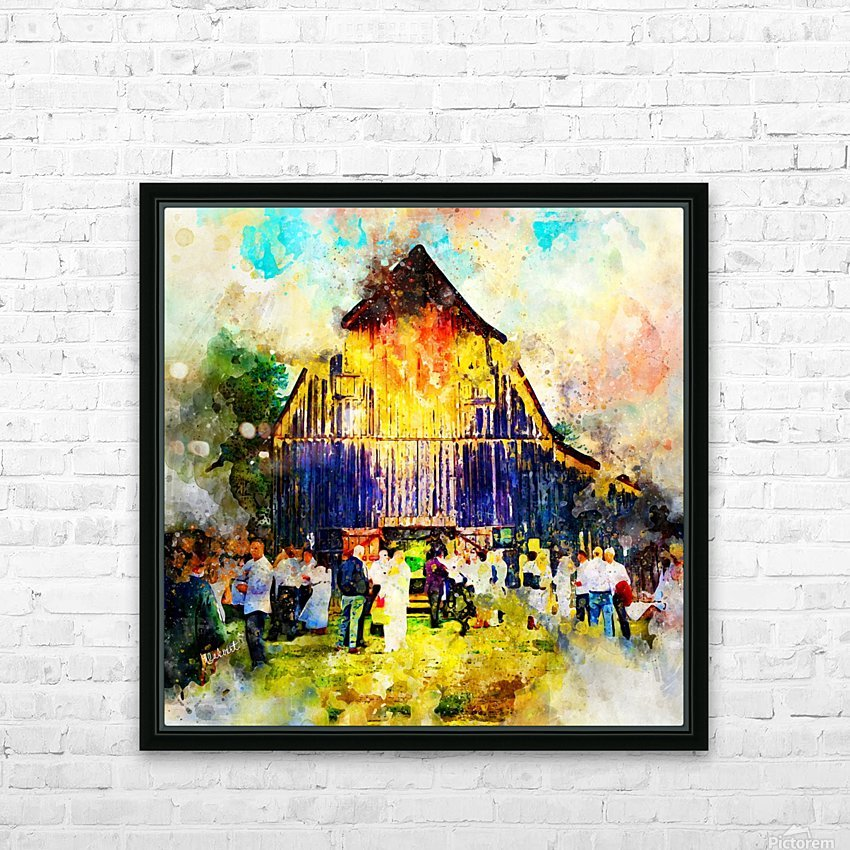 Jackson Hole Barn HD Sublimation Metal print with Decorating Float Frame (BOX)
