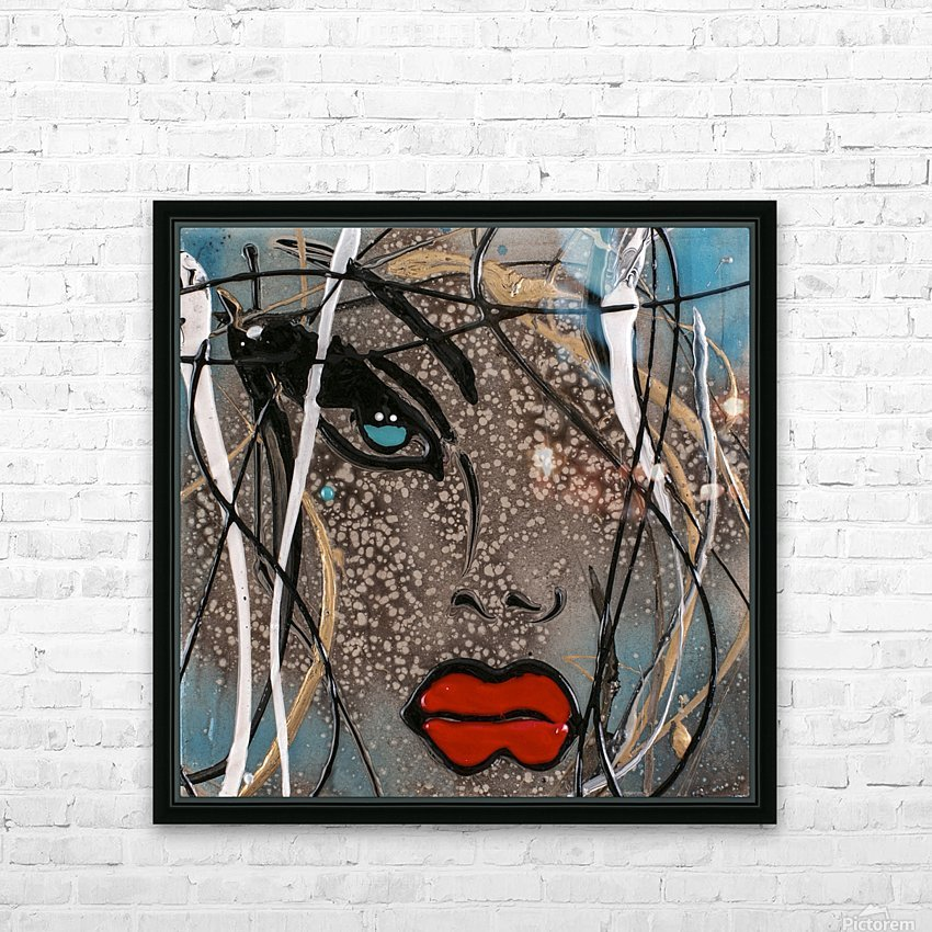 3094 - OD steal bleu HD Sublimation Metal print with Decorating Float Frame (BOX)