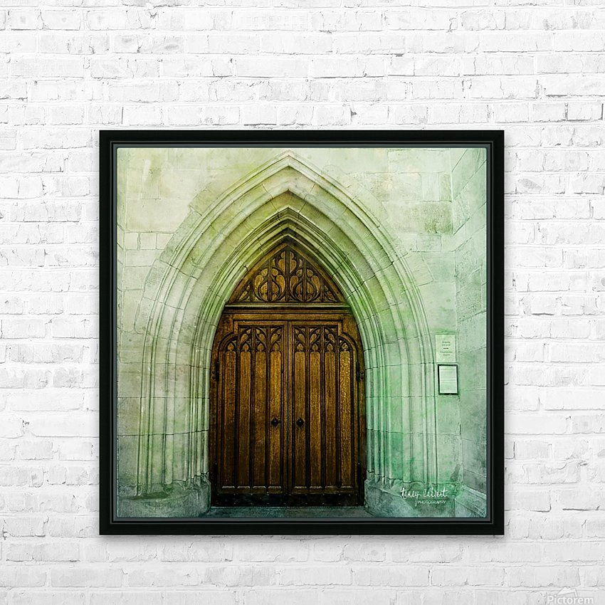 ZURICH CATHEDRAL DOOR HD Sublimation Metal print with Decorating Float Frame (BOX)