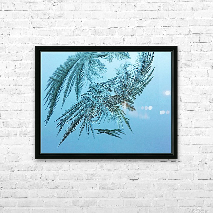 Frosty Blue HD Sublimation Metal print with Decorating Float Frame (BOX)