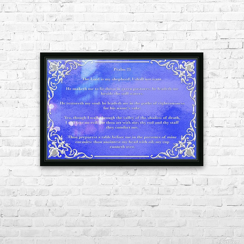 Psalm 23 1BL HD Sublimation Metal print with Decorating Float Frame (BOX)