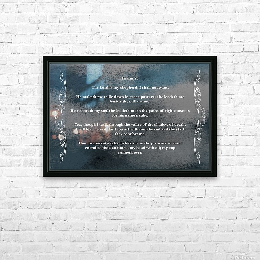 Psalm 23 4CH HD Sublimation Metal print with Decorating Float Frame (BOX)
