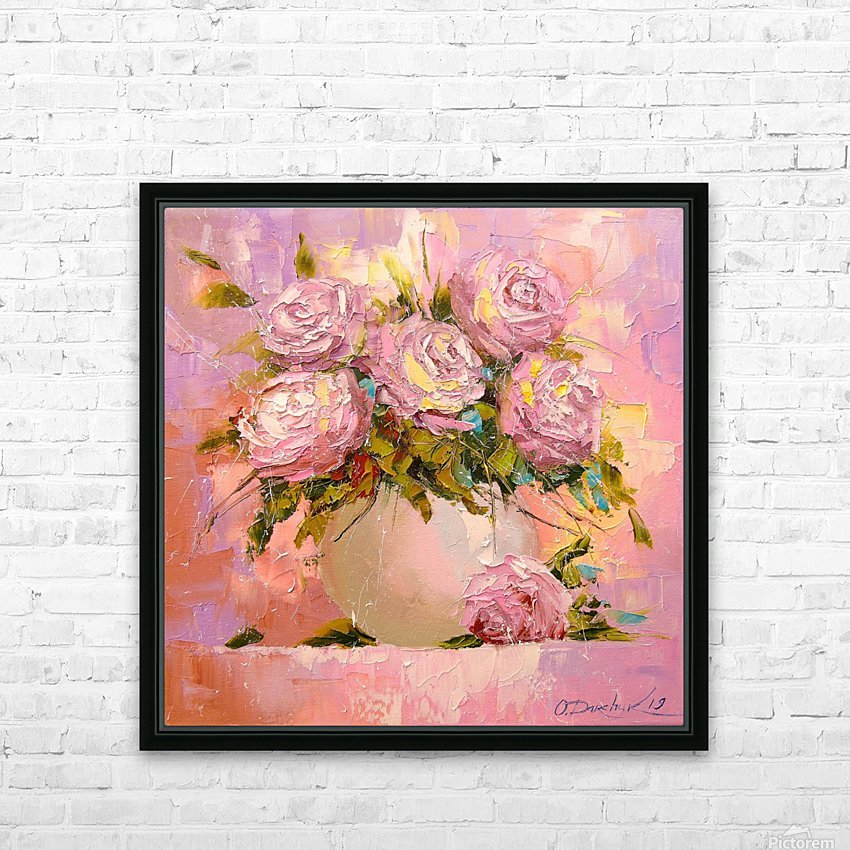 A bouquet of delicate roses HD Sublimation Metal print with Decorating Float Frame (BOX)