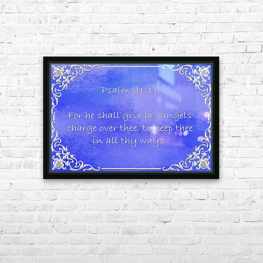 Psalm 91 11 1BL HD Sublimation Metal print with Decorating Float Frame (BOX)