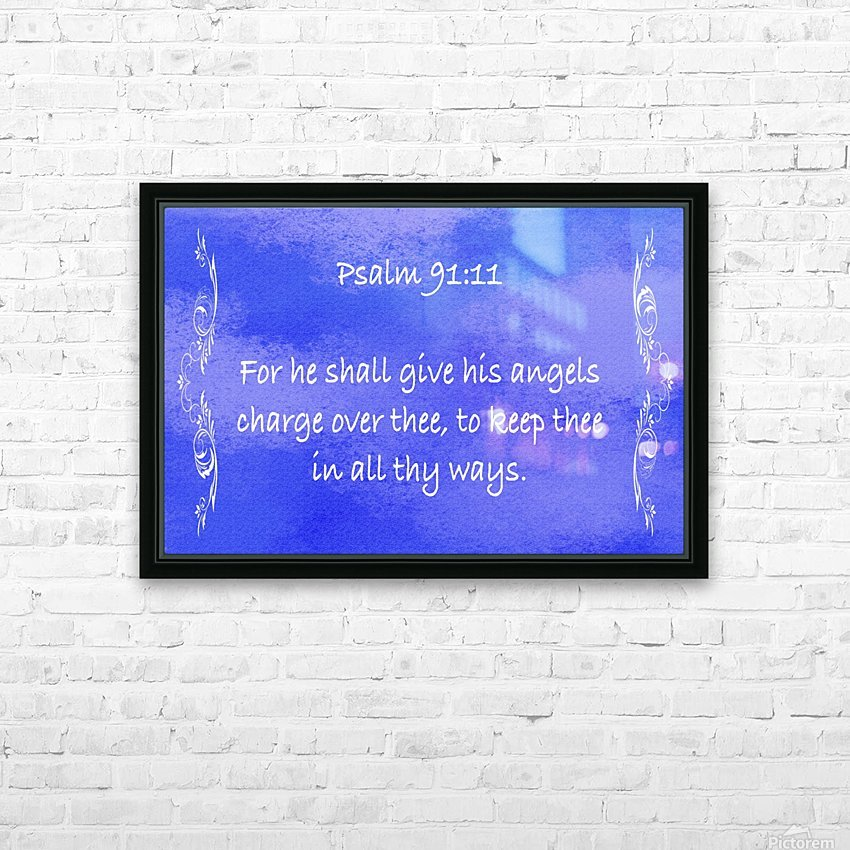 Psalm 91 11 4BL HD Sublimation Metal print with Decorating Float Frame (BOX)