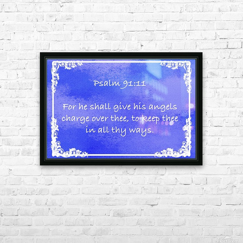 Psalm 91 11 9BL HD Sublimation Metal print with Decorating Float Frame (BOX)