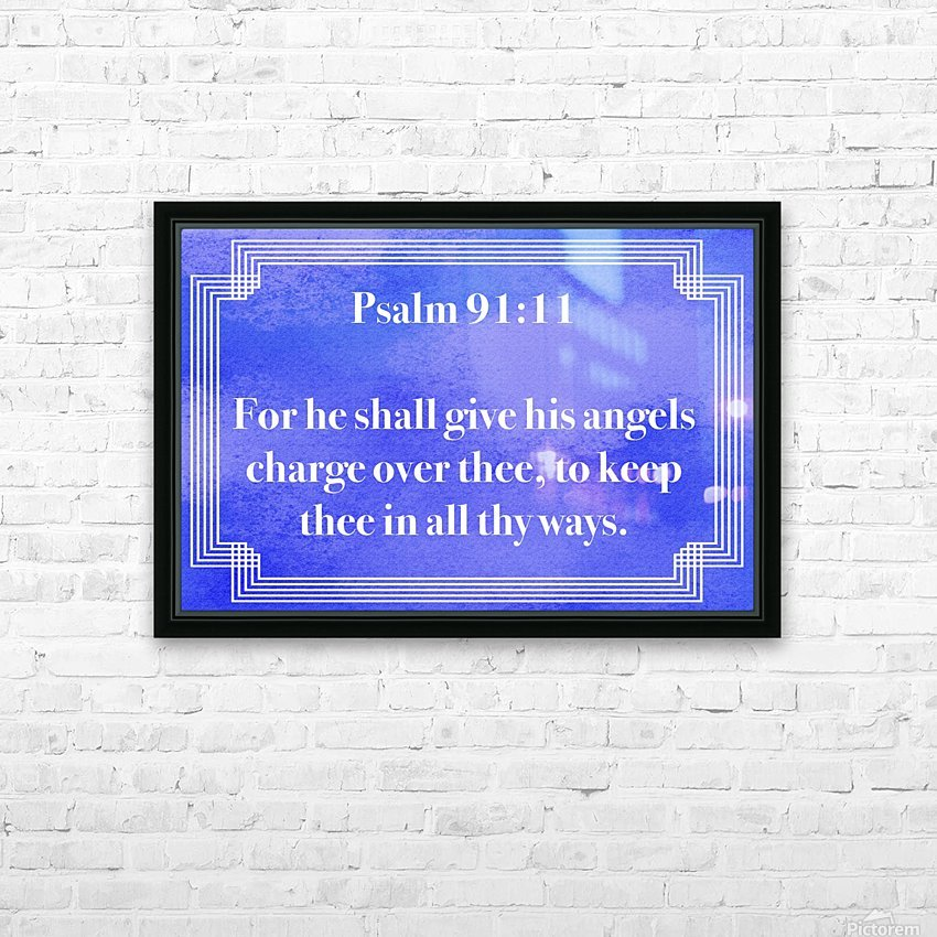 Psalm 91 11 2BL HD Sublimation Metal print with Decorating Float Frame (BOX)