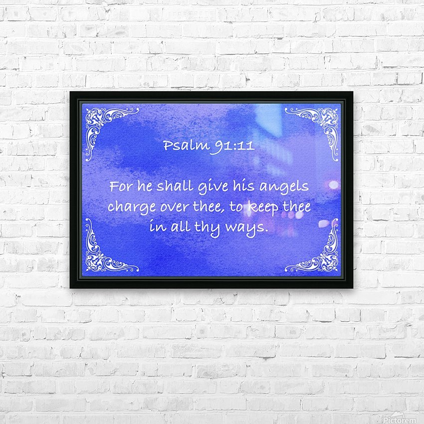Psalm 91 11 5BL HD Sublimation Metal print with Decorating Float Frame (BOX)