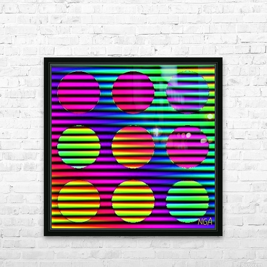 Disco Time - by Neil Gairn Adams HD Sublimation Metal print with Decorating Float Frame (BOX)