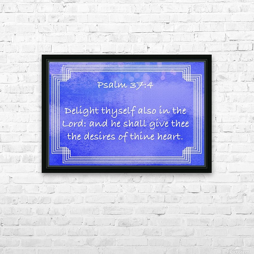 Psalm 37 4 2BL HD Sublimation Metal print with Decorating Float Frame (BOX)