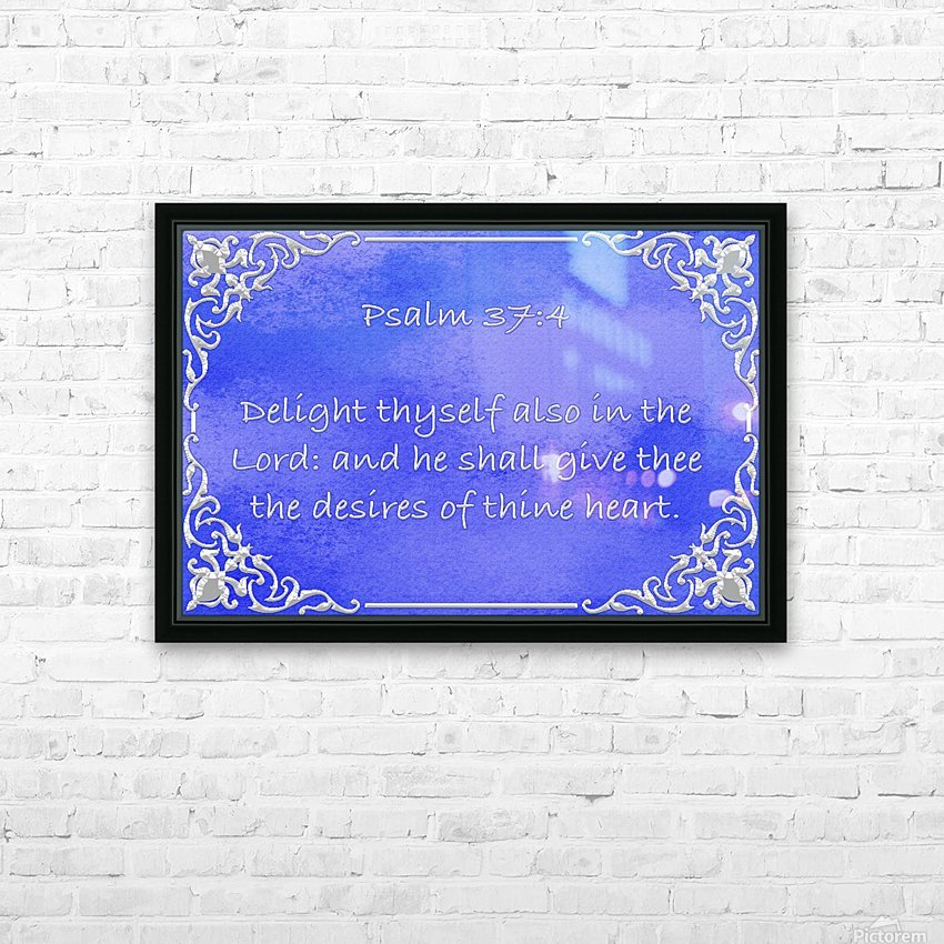 Psalm 37 4 1BL HD Sublimation Metal print with Decorating Float Frame (BOX)