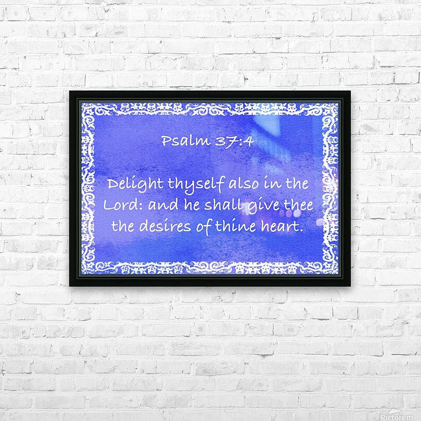 Psalm 37 4 10BL HD Sublimation Metal print with Decorating Float Frame (BOX)