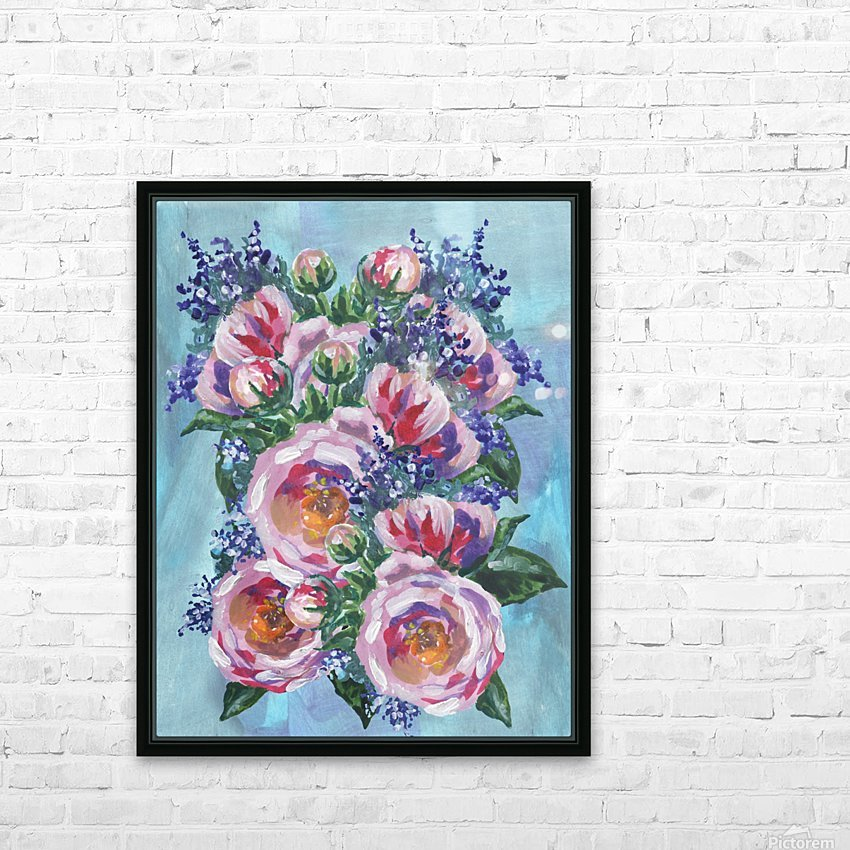 Beautiful Impressionistic Flowers HD Sublimation Metal print with Decorating Float Frame (BOX)