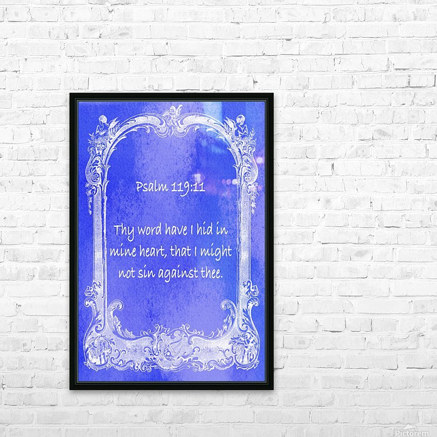 Psalm 119 11 7BL HD Sublimation Metal print with Decorating Float Frame (BOX)