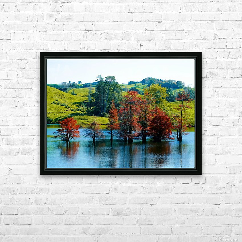 Water Trees HD Sublimation Metal print with Decorating Float Frame (BOX)
