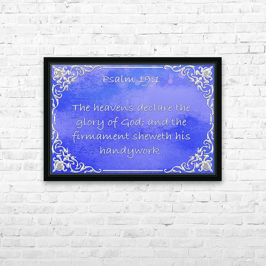 Psalm 19 1 1BL HD Sublimation Metal print with Decorating Float Frame (BOX)